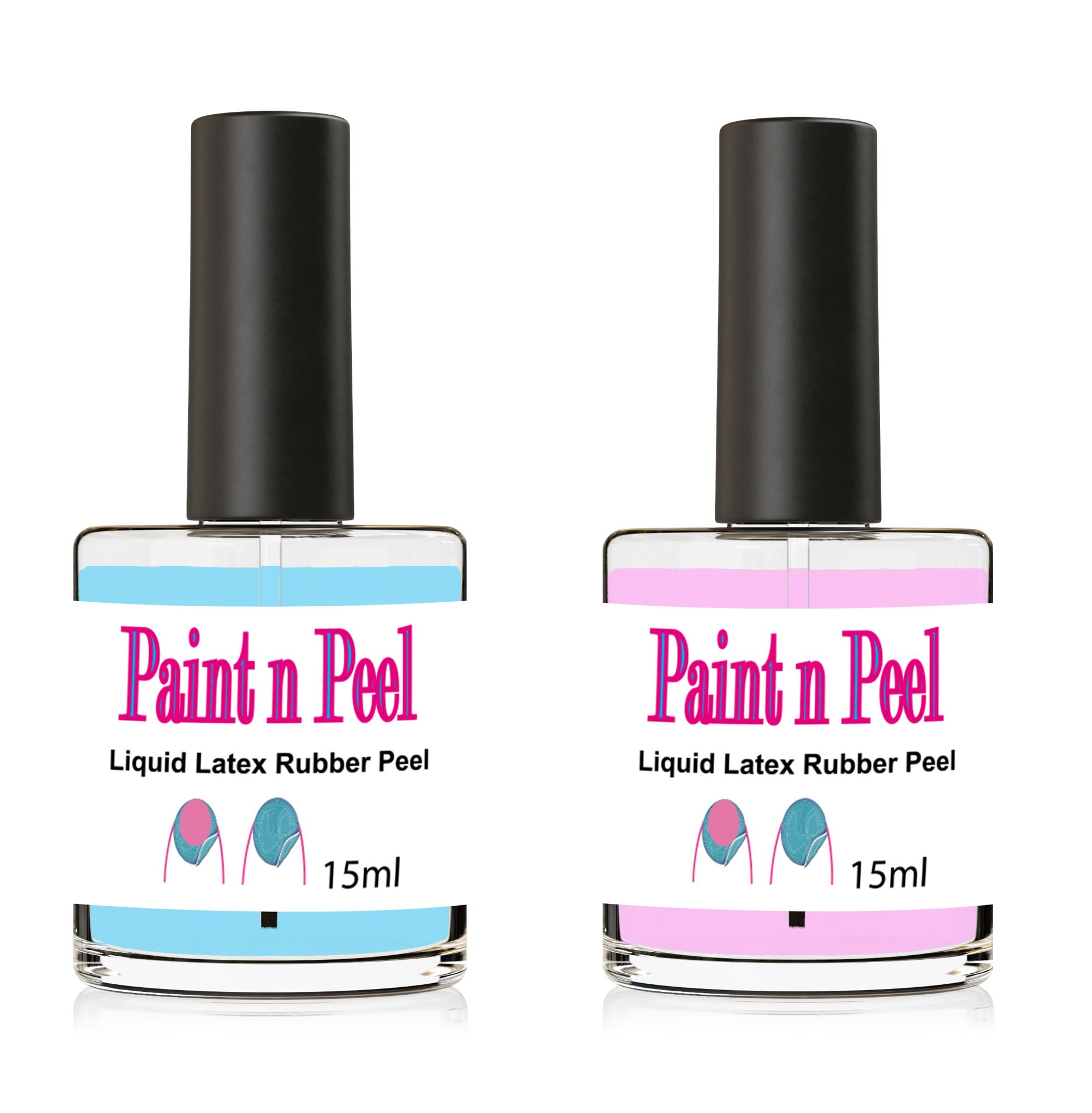 Nail Paint & Peel Off Liquid Nails Art Tape Blue Latex Rubber Choice ...